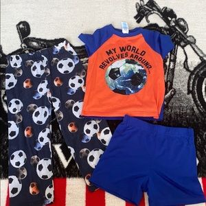 TCP Boys 3pc pajama set sz 4T EUC soccer